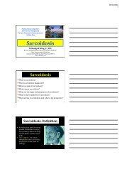 Sarcoidosis - American Lung Association