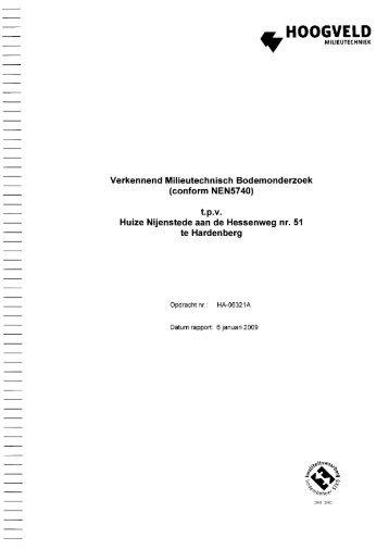 Bijlage 2 Milieukundig bodemonderzoek - Gemeente Hardenberg