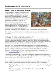Buddhismens syn på våld och krig - BuddhismInfo.se