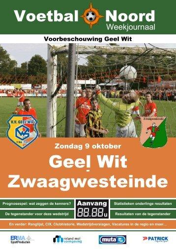 Geel Wit Zwaagwesteinde - VV Geel Wit