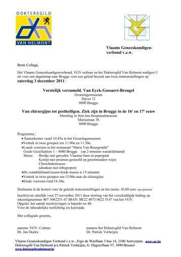 aankondiging en programma - doktersgilde Van Helmont