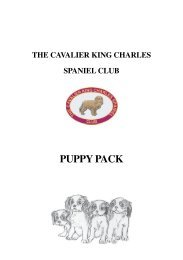 web Puppy Pack.pmd - The Cavalier King Charles Spaniel Club