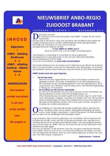 Regionale ANBO Nieuwsbrief NOVEMBER 2012[FINAL]