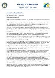 Læs hele tiltrædelsestalen her... - Rotary Danmark