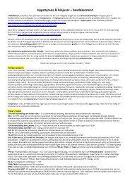 Hypotyreos & binjurar – basdokument - iFokus