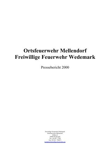 Ortsfeuerwehr Mellendorf Freiwillige Feuerwehr Wedemark