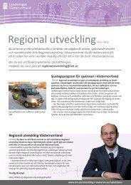 Läs Regional utveckling nr 1/2013 - Landstinget Västernorrland