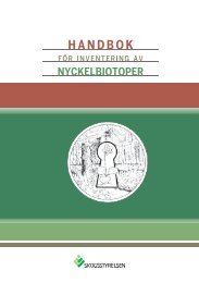 Handbok för inventering av nyckelbiotoper(pdf). - Skogsstyrelsen