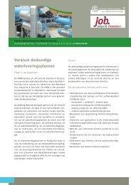 Vacature deskundige waterleveringsplannen - Jobpunt Vlaanderen