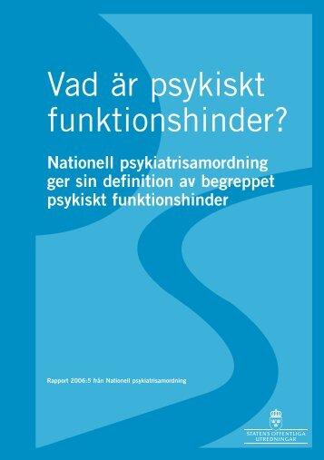 Vad är psykiskt funktionshinder? - Personligt ombud
