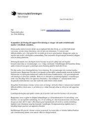 Maj 2012 Synpunkter på förslag till rapport Förvaltning av skogar ...