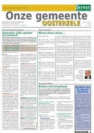 mei 2013 - Gemeente Oosterzele