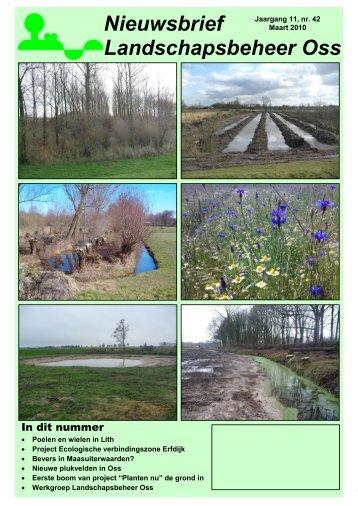 Nieuwsbrief Maart 2010 - Landschapsbeheer Oss