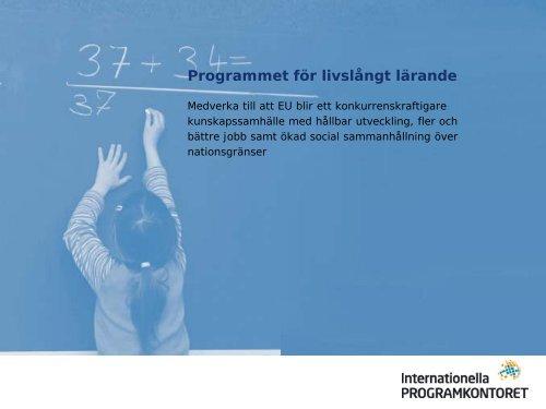 Programmet för livslångt lärande