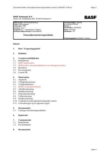 KWM 09.01 - Persoonlijke beschermingsmiddelen - BASF