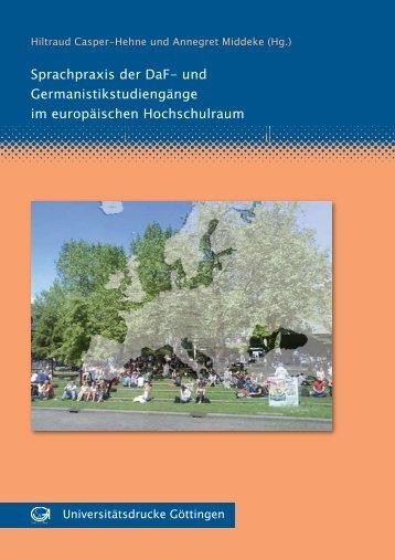 Sprachpraxis der DaF- und Germanistikstudiengänge im ...