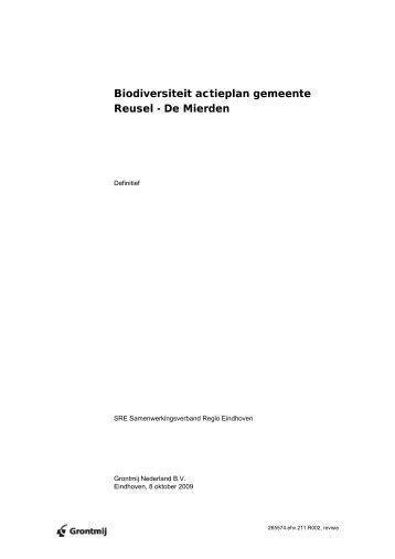 Biodiversiteit actieplan gemeente Reusel - De Mierden