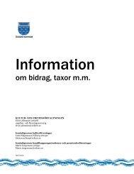 Information om bidrag, taxor m.m. - Öckerö kommun
