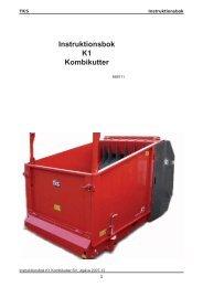Instr.bok K1 Kombikutter 2007.indd - TKS AS