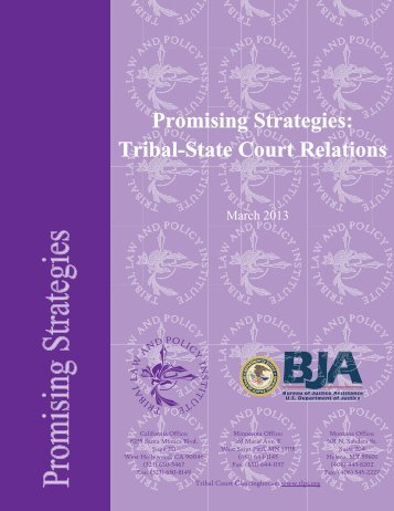 Promising Strategies: Tribal State Court Relations - Walking on ...