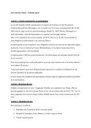 Jeu concours Puma – Zalando Sport Article 1 : Société organisatrice ...