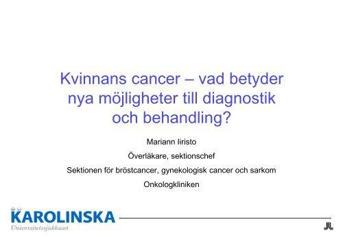 vad betyder onkologi