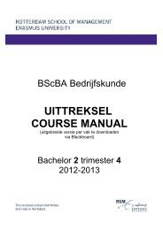 UITTREKSEL COURSE MANUAL