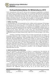 Verksamhetsberättelse 2010 - Befälsföreningen Militärtolkar