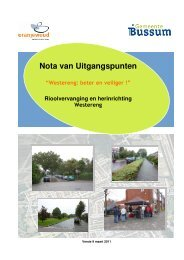 Nota van Uitgangspunten - Gemeente Bussum