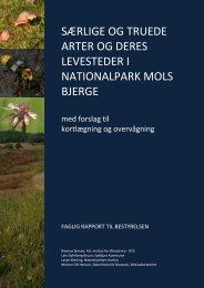 særlige og truede arter og deres levesteder i nationalpark mols bjerge