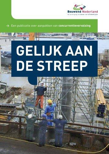campagne 'Gelijk aan de streep' - Bouwend Nederland