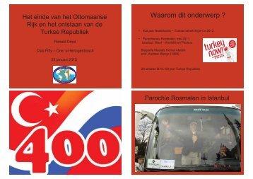 Het einde van het Ottomaanse Rijk en het ontstaan van de Turkse ...