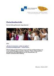 Zwischenbericht - Stiftung Deutsche Jugendmarke eV