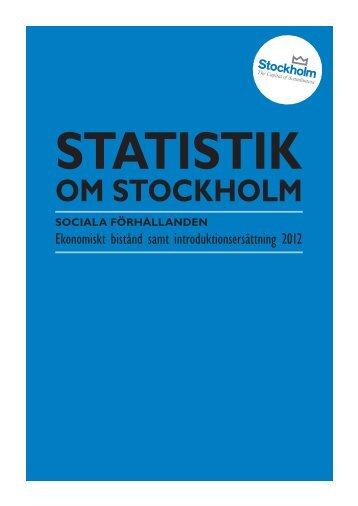 Ekonomiskt bistånd 2012.pdf - Statistik om Stockholm