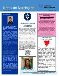 Notes on Nursing - Lutheran Medical Center