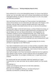 Verslag workshop Arjen de Vries - Beter Onderwijs Nederland