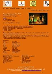 Programa - Triangle Teatre
