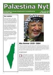Palæstina Nyt december 2004 - Dansk-Palæstinensisk ...