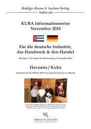 Donnerstag, 4. November 2010 - Profil Cuba-Reisen, Manfred Sill