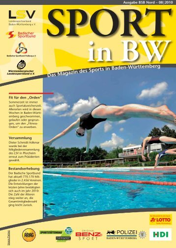 Download Sport in bw Nr. 08/10 - Badischer Sportbund Nord ev