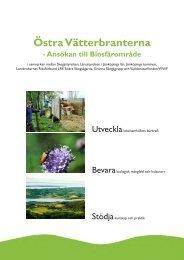 Ansökan till Unesco för bildande av biosfärsområde - Östra ...