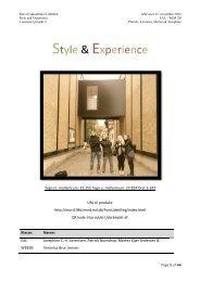 Style & Experience - Portfolio af Morten Kjær