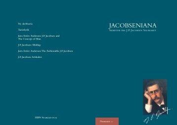 JACOBSENIANA - J. P. Jacobsen Selskabet - Aarhus Universitet