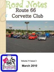 March 2010 - Route 66 Corvette Club