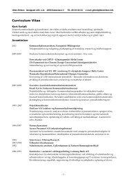 Curriculum Vitae - Gitte Nielsen