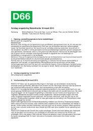 Verslag vergadering Statenfractie 19 maart 2013 - D66 Gelderland