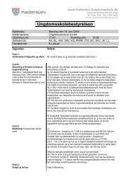 2008-06-16 dagsorden referat - Haderslev Ungdomsskole