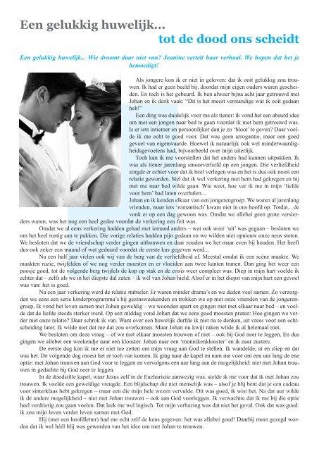 Huwelijk niet dating einde