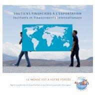 soutiens financiers à l'exportation incitants et financements ... - Awex