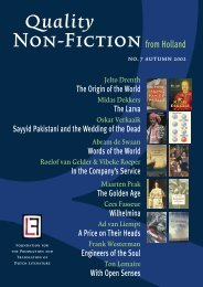Quality Non-Fiction from Holland and Flanders (Autumn 2002)